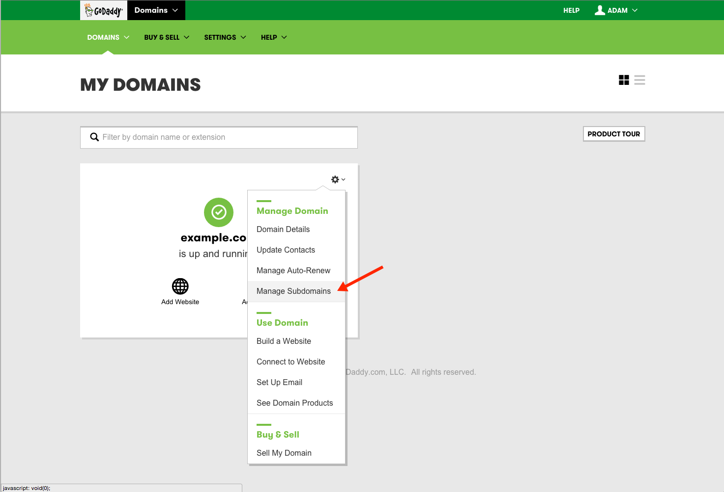 Manage Subdomains in Your GoDaddy Hosting Account
