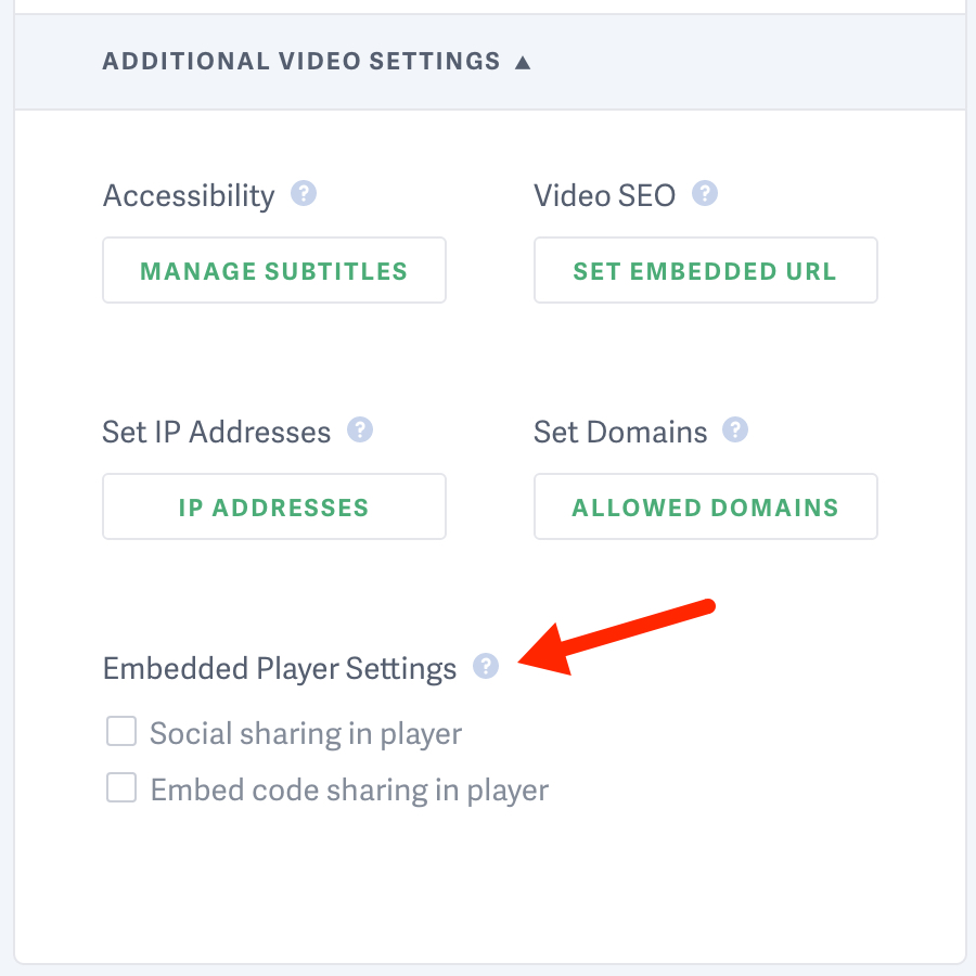 Click additional video settings