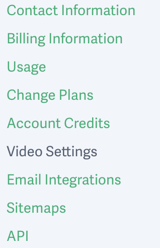 Access your account-wide video settings for your video hosting account with SproutVideo