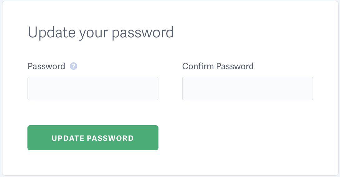Scroll down to update password