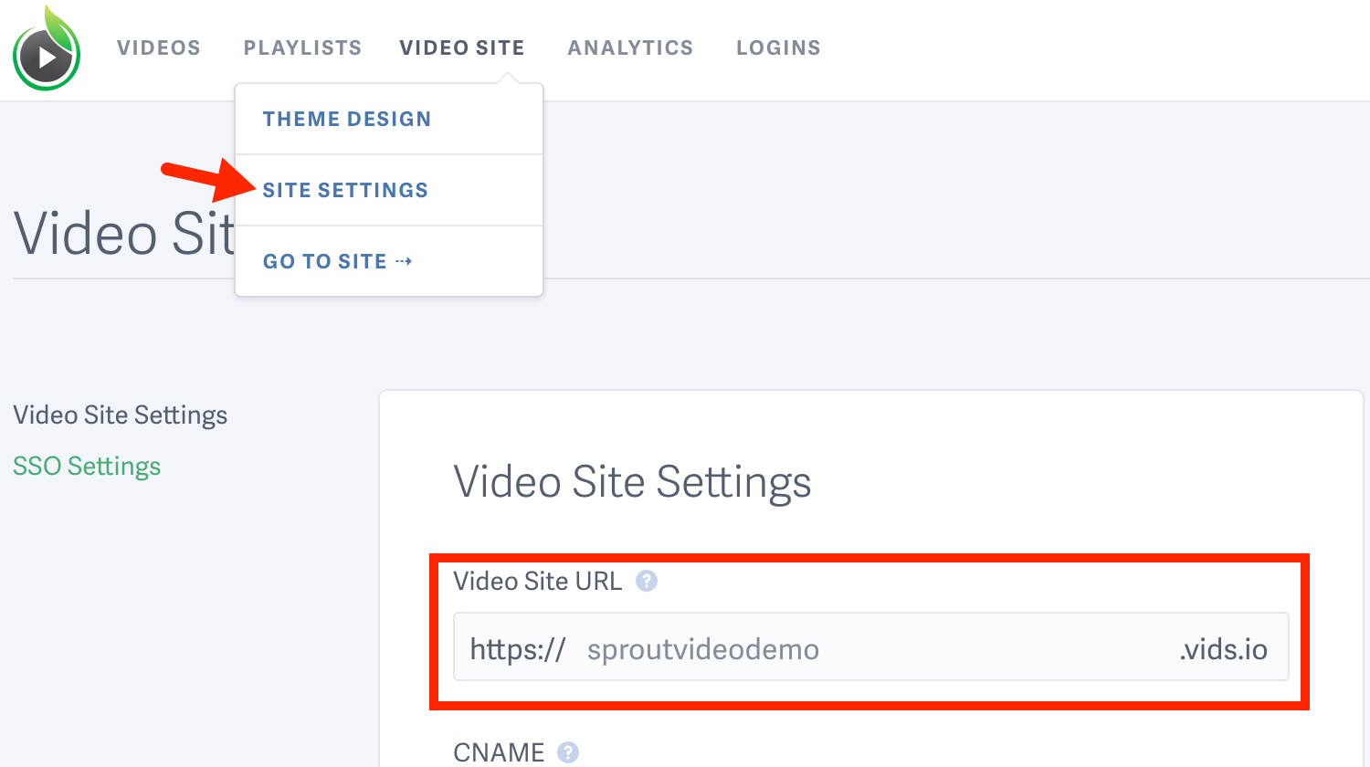 Change your video sharing URL for videos hosted on our platform