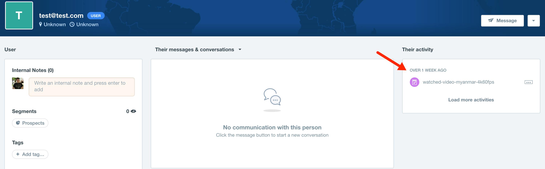 Intercom User info
