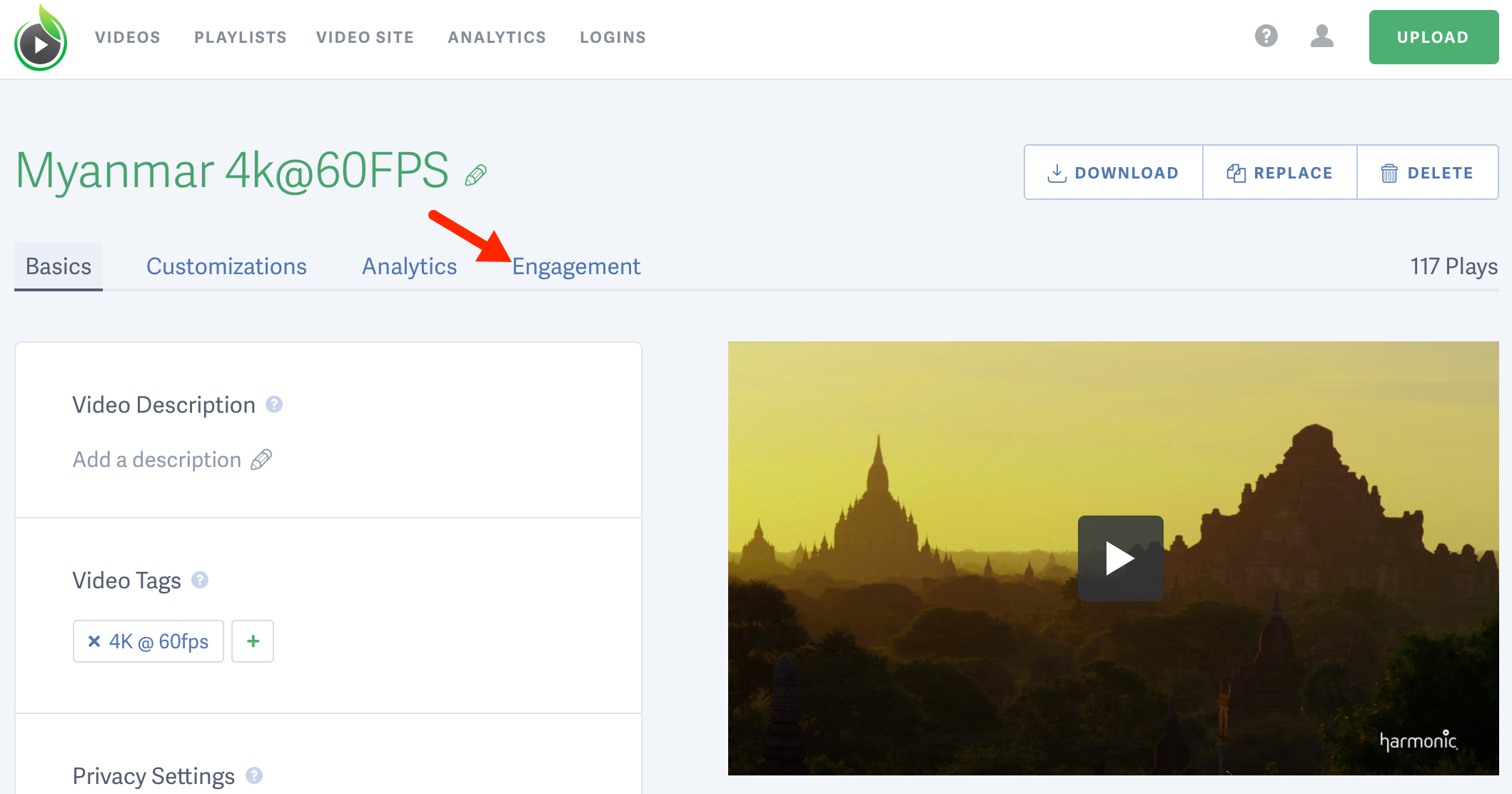 Access the engagement metrics for your online video hosted by SproutVideo