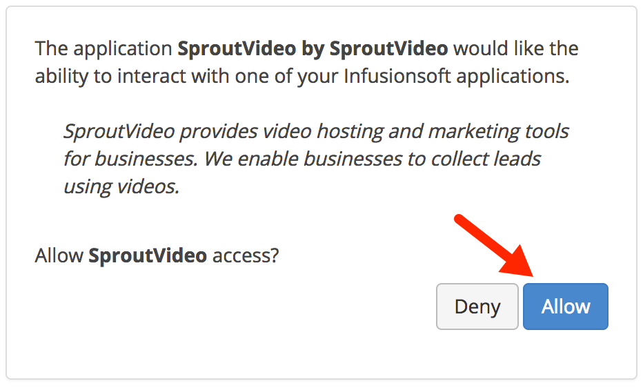 Allow Infusionsoft