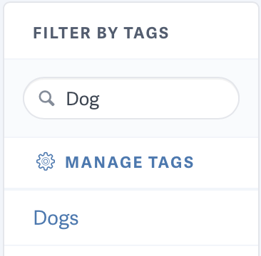 Searching tags for videos on SproutVideo