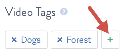 Add a tag with the + button