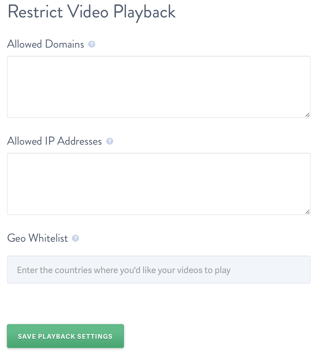 Add Allowed Domains to your SproutVideo video hosting account