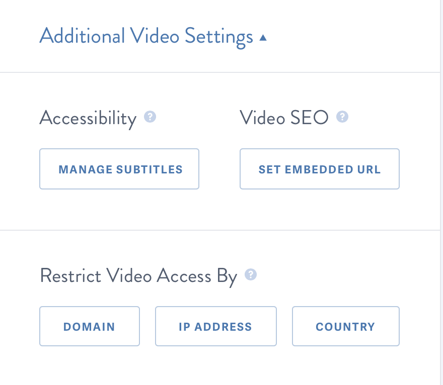 Scroll to additional video setting