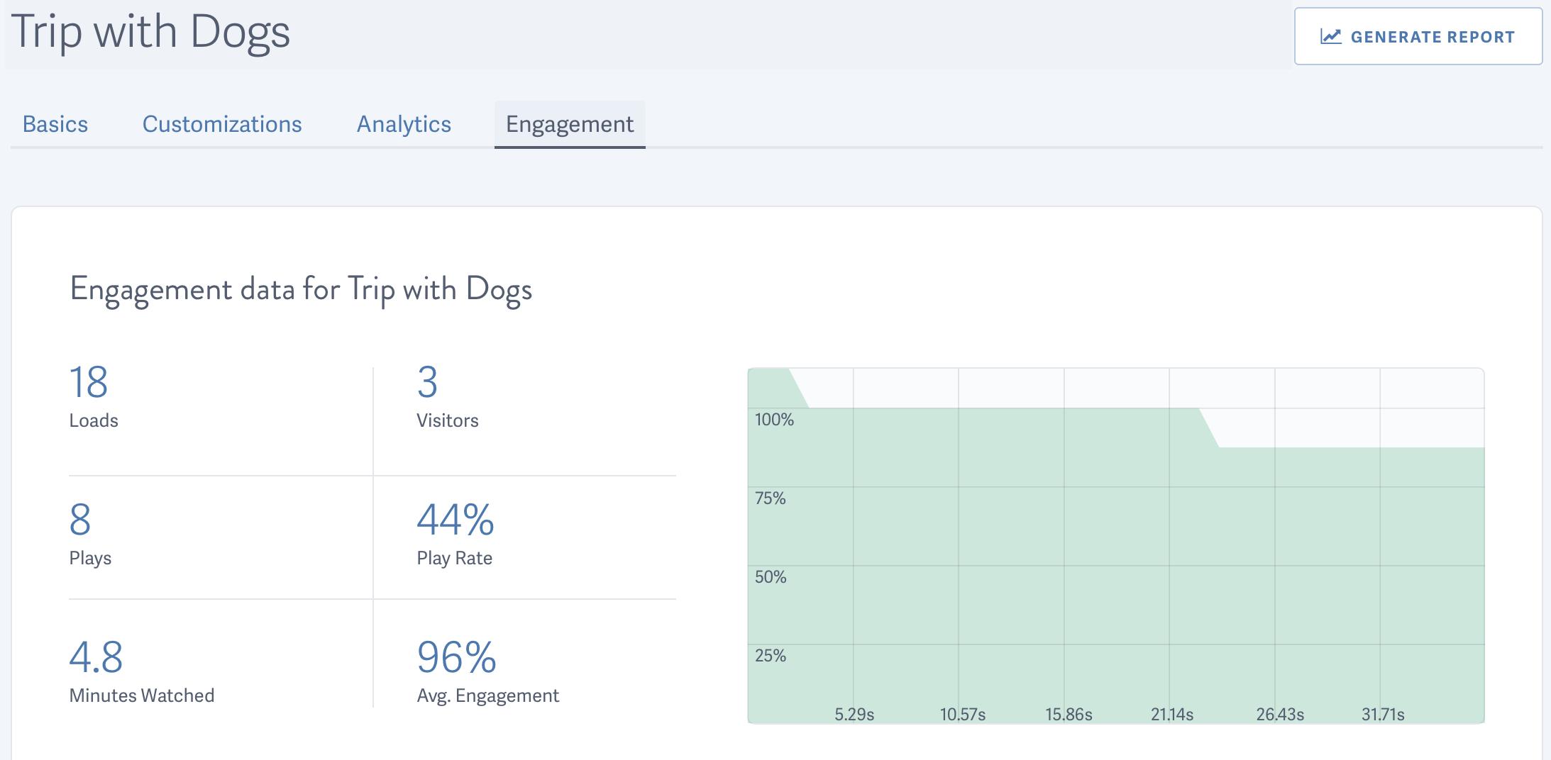 Video Engagement Data Summary Report