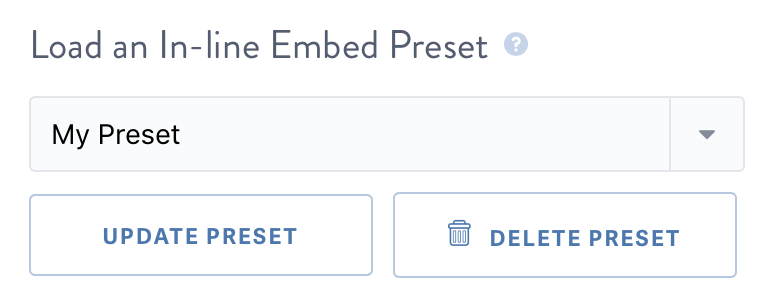 Save a preset embed code for the SproutVideo video player