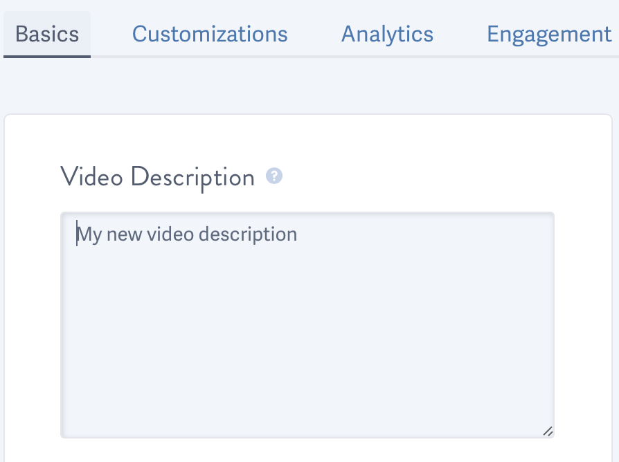 Save the changes to your video description