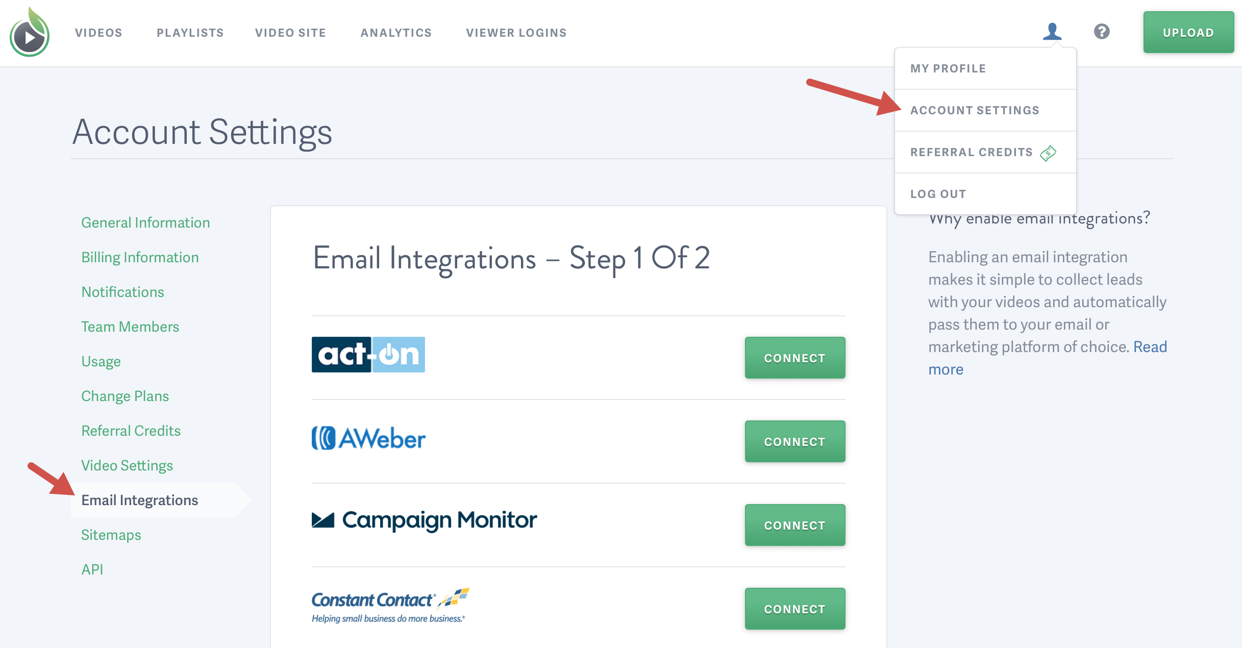 Email and Marketing Automation Integrations for SproutVideo Accountholders
