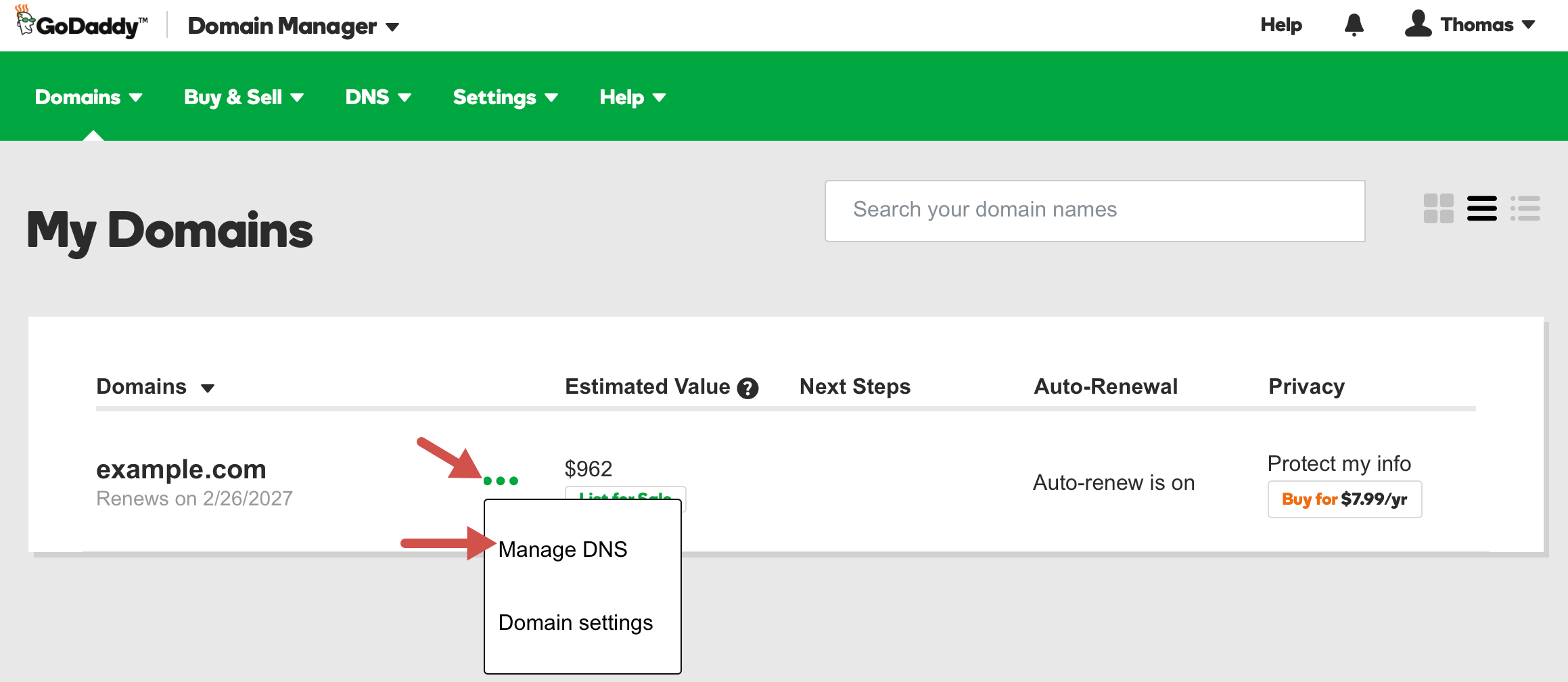 Setup a CNAME record in Your GoDaddy Hosting Account