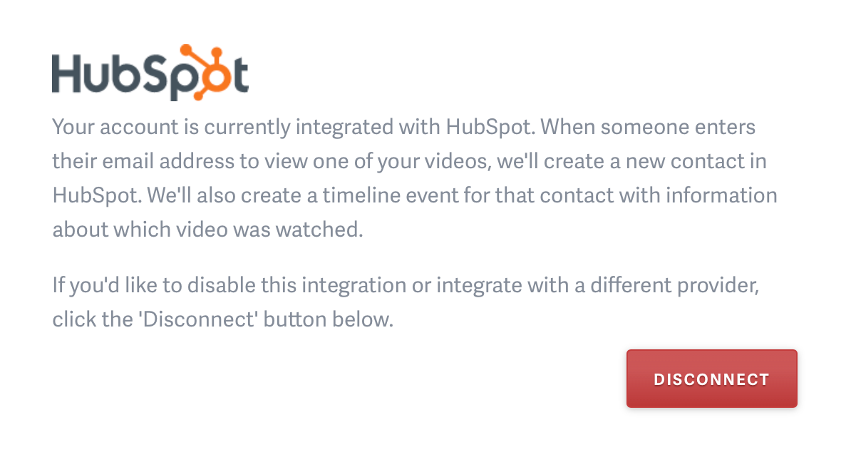 HubSpot enabled