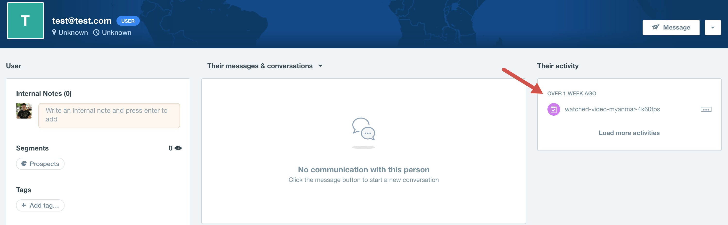 Intercom User info