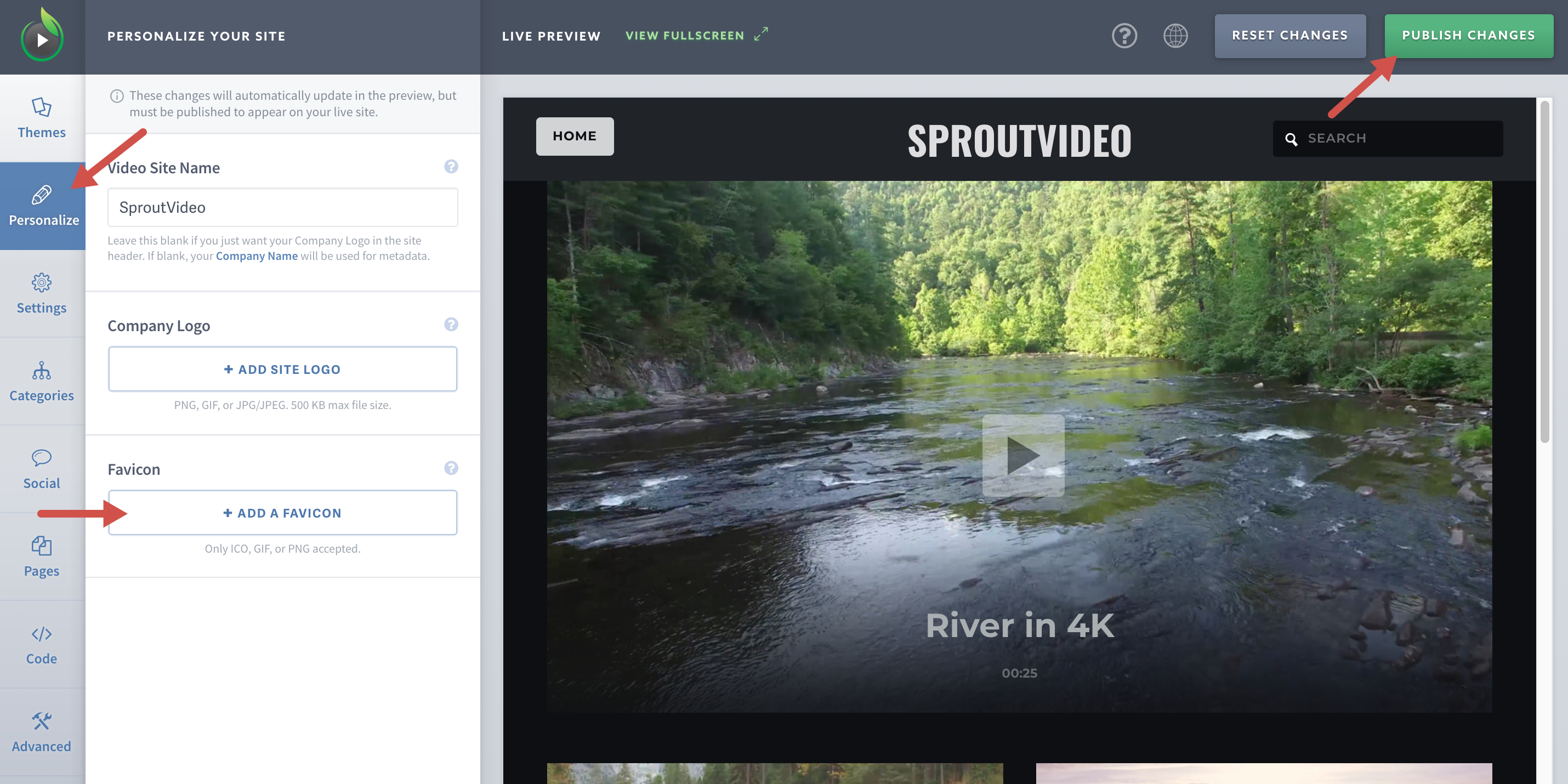 Add a Favicon to Your Video Website Hosted By SproutVideo