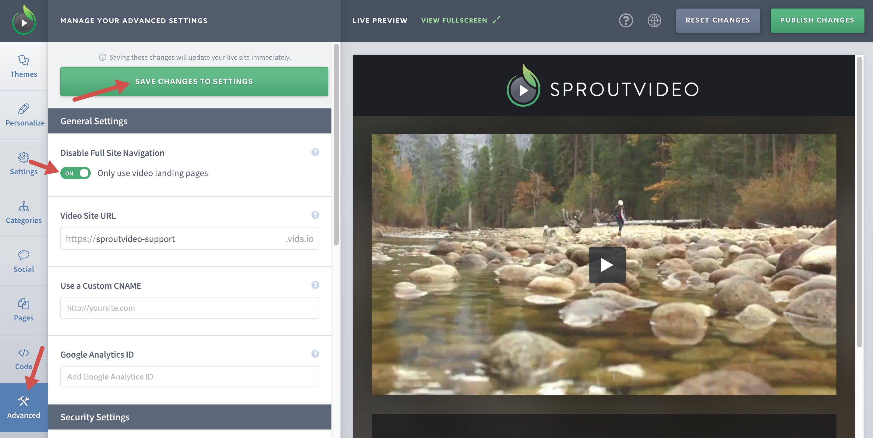 Disable Your Full Video Website on SproutVideo