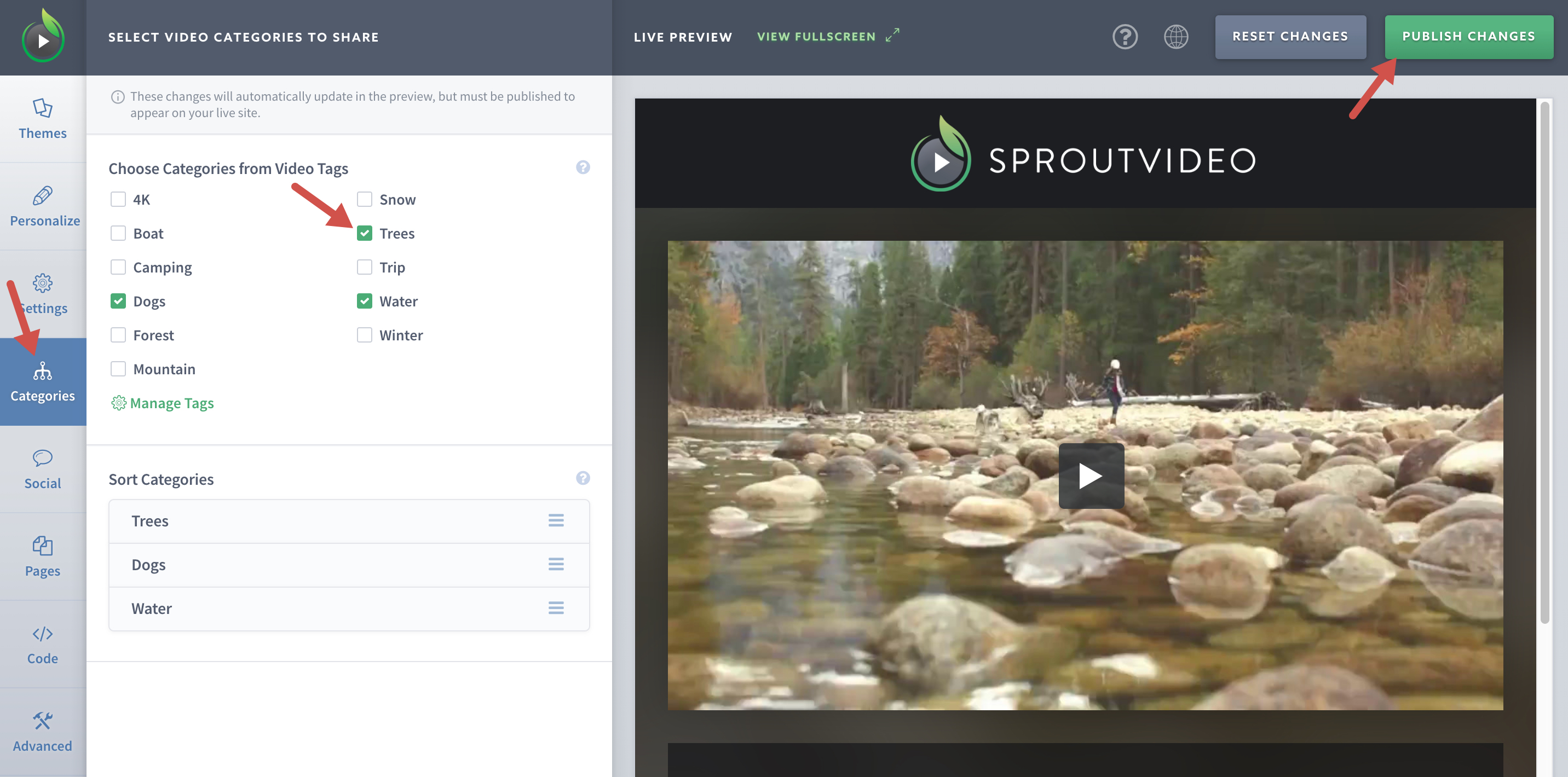 Enable Categories for Your SproutVideo Website