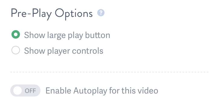 Change Pre-Play Settings for Your Video Embed Code