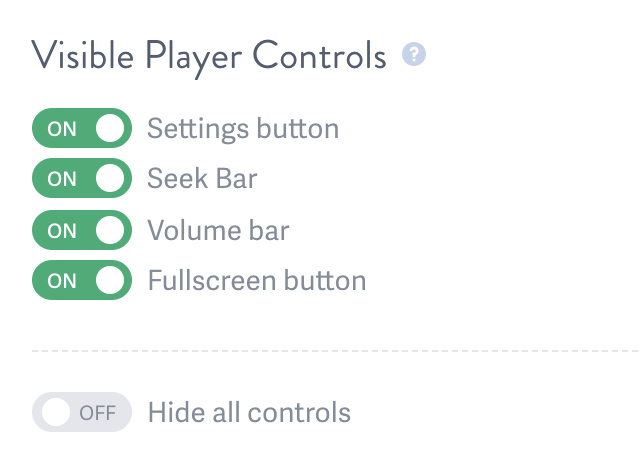 Show Or Hide Controls For an Embedded Video Hosted on SproutVideo