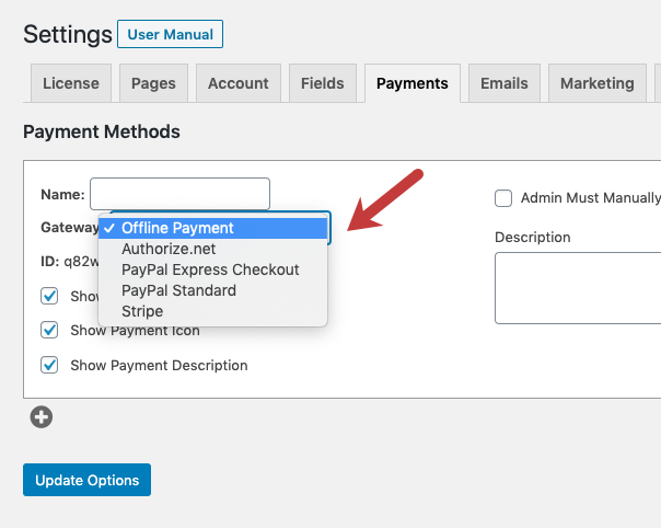 Add Payment Processor to MemberPress