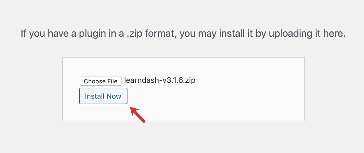 Install LearnDash to WordPress