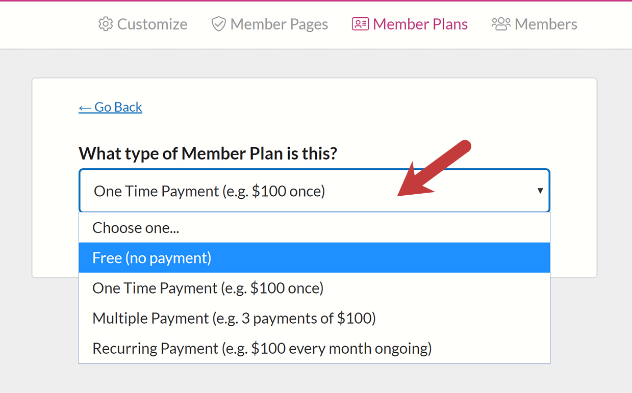Configure payment settings in MemberSpace