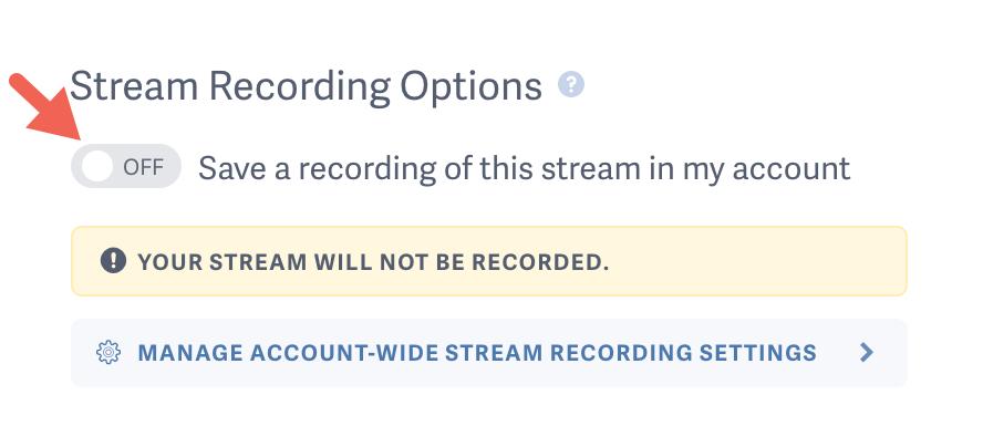 Live Stream Recording Options